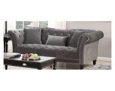 Glam Sofa W/ Diamond Stitched Tufting   Sam Levitz Furniture