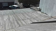 Before Image of Old & #rusting roof sheets that was stripped and replaced with new #galvanized sheets