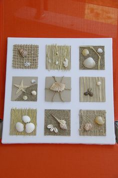 пано Beach Themed Crafts, Sea Crafts, Home Crafts, Diy And Crafts, Arts And Crafts, Seashell Ornaments, Seashell Art, Seashell Crafts, Seashell Projects