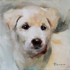 """Daily Paintworks - """"Puppy03"""" by Teresa Yoo"""