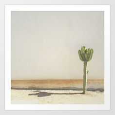Cactus Art Print by Amber Barkley. Worldwide shipping available at Society6.com…