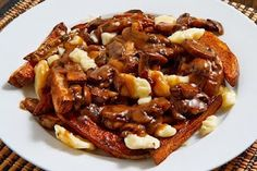 Poutine! Fries covered in gravy and cheese curds!