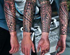 -2015-08-ManosPaterakis-01 Samoan Tattoo, Tribal Tattoos, Native Tattoos, Tribal Prints