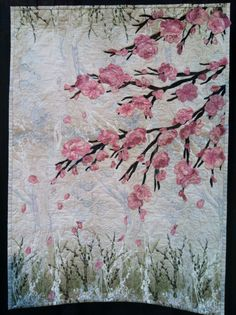 Quilt from Houston quilt show. Don't know maker, but the pink is beautiful!!