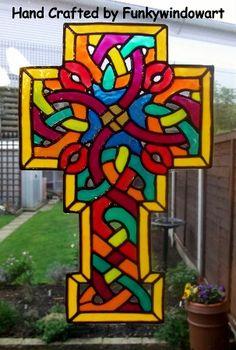 Celtic Cross Static Window Cling