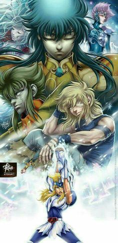 Saint Seiya Ice Knights Hyoga no Cygnus Manga Anime, Art Anime, Anime Artwork, Cool Artwork, Knights Of The Zodiac, Manga Comics, Sailor Moon, Comic Art, Comic Books