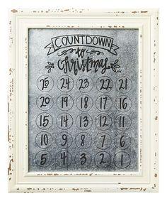 Another great find on #zulily! Countdown Tin Framed Calendar #zulilyfinds