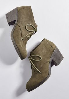 cb4a4b69265b Block Heel Bootie in Olive in 7 - Low Heel - Over