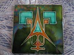 Secessionist Art Nouveau Tile
