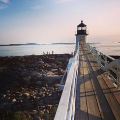 Lighthouse in Port Clyde, Maine. Photo courtesy of lauraitzkowitz on Instagram.