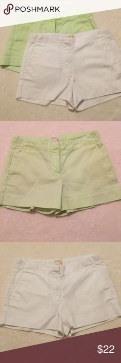 Crew Cuts Frankie short bundle Iconic Frankie short by Crew Cuts in white and citron.  Excellent condition. J. Crew Bottoms Shorts