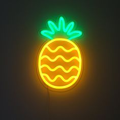 Pineapple Neon sign from BRITELITETRIBE.COM