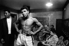 Muhammad Ali in Locker Room, 1961 by Art Shay