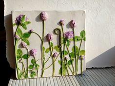 Клевер луговой  Ботанический барельеф от Юлии Тимощук
