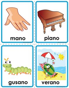 Picture Spanish Language Learning, Teaching Spanish, Spanish Class, Preschool Spanish, Spanish Activities, Learning Websites For Kids, Learning Tools, Infant Activities, Preschool Activities