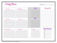 Printable Weekly Planner | Weekly Planner Printable…Mom Simplicity
