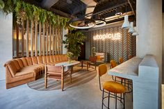 Creative Office Space, Office Space Design, Modern Office Design, Workspace Design, Office Interior Design, Office Interiors, Interior And Exterior, Design Commercial, Commercial Interiors