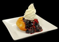 Epcot International Food & Wine Festival's Belgian Waffles with Berry Compote and Whipped Cream