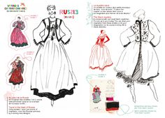 1976 - Ballets Russes Collection sketch from YSLColorBook
