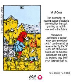 VI of Cups Cards On The Table, Symbolic Representation, Tarot Card Meanings, Spirit Science, Witch Art, Tarot Spreads, Book Of Shadows, Tarot Decks, Wicca
