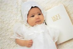 How to Make a Baby Bib Out of a Wedding Gown for a Baptism