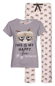 Primark - Pijama de gato gruñón Clothing, Shoes & Jewelry - Women - Clothing - Lingerie, Sleep & Lounge - Lingerie - Lingerie, Sleepwear & Loungewear - http://amzn.to/2lSL4Y7