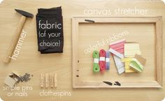 INSPIRATION BOARD TUTORIAL! :)   #marysza #inspiration #board #tutorial #diy #clothespin    marysza. handmade goods made with love