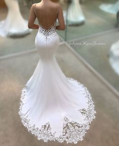 The perfect blend of sweet and sultry -- it's no wonder that the Juri gown from our 2017 Blue by Enzoani bridal collection is one of our most popular wedding dresses, a favorite among brides and retai . Stunning Wedding Dresses, Bridal Wedding Dresses, Dream Wedding Dresses, Beautiful Gowns, Blue By Enzoani, Wedding Dressses, Wedding Beauty, Wedding Inspiration, Future