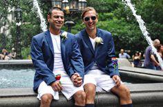New York Gay Wedding #simonsheridan #hamptonsexquisitefood http://hamptonsexquisitefood.com