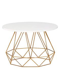 Love this Lena Copper Coffee Table - it's farm more affordable than you might think. And it's from M&S!