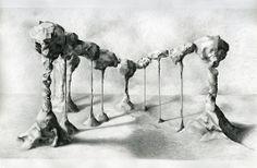 Eleanor Bedlow, Column, pencil on paper, 152 x 122 cm, 2013