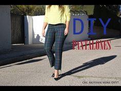 DIY Costura: Cómo hacer pantalon de cuadros (patrones gratis) - YouTube