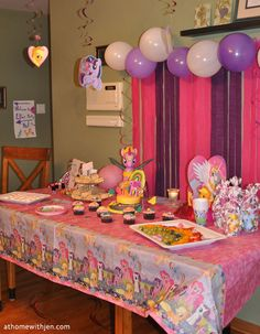 My Little Pony Birthday Party - ideas for a home party and free printable