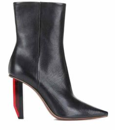 7ed1fc288c70 Leather ankle boots | Vetements Black Ankle Booties, Leather Ankle Boots,  Black Leather,
