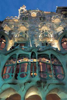 Casa Batllo on Passeig de Gracia, Barcelona