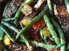 Sesame Tempeh with Green Beans via @meatlessmonday