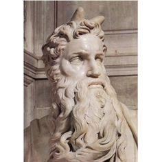 Statue of Moses in the Cathedral of St. Peter Moses in Rome. Sculptor Michelangelo Buonarotti - - If they had only gotten the translation correct, Moses doesn't have horns but if you don't know Hebrew. Michelangelo Sculpture, Italian Sculptors, High Renaissance, Rodin, In Ancient Times, Western Art, Art History, Statues, Renaissance