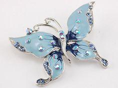 Sky Blue Enamel Spring Butterfly Sapphire Crystal Rhinestone Costume Pin Brooch Alilang http://www.amazon.com/dp/B003U64V56/ref=cm_sw_r_pi_dp_Nvs0tb1V9DPADHXH