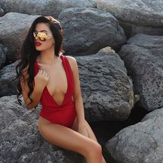 Multi-Way Red One Piece Swimsuit