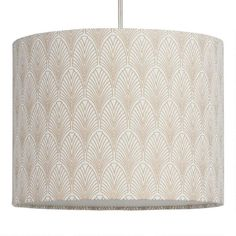 Gold Fan Cotton Drum Table Lamp Shade | World Market