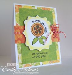 {orange you glad} bella blvd itty bitty by unity stamp company - card created by unity friend/customer emily niehaus