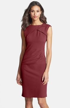 I love this dress - minimal, modern and navy blue. Adrianna Papell Pleated Crepe Dress available at Work Dresses For Women, Suits For Women, Dress Shapes, Event Dresses, Dinner Dresses, Office Dresses, Cocktail Dresses, Crepe Dress, Cheap Dresses
