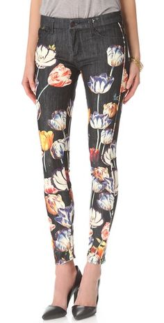 floral jeans. I wish I had long enough legs for pants like this