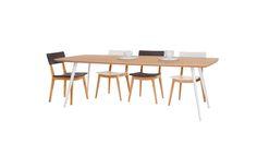 """שולחן אוכל גלשן אלון שטרייף - אורך: 240 ס""""מ / רוחב: 105 ס""""מ / גובה: 75 ס""""מ"""