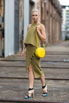 Bright Round Bag is on fleek for spring 2015 || Karen Walker Marion Mini Round bag