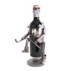 Wine Racks - Golf Frustration Wine Bottle Holder HK Steel Sculpture  6086LI * Want additional info? Click on the image.