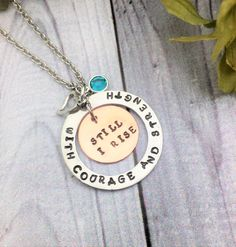 A personal favorite from my Etsy shop https://www.etsy.com/listing/479077530/washer-pendant-hand-stamped-jewelry