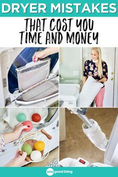 The way you use (or don't use) your dryer can make it less efficient and even run up your energy bill. Find out which common dryer mistakes may be to blame! House Cleaning Tips, Cleaning Hacks, Cluttered Bedroom, Energy Bill, Fun To Be One, Homemaking, Creative Inspiration, Clean House, Mistakes