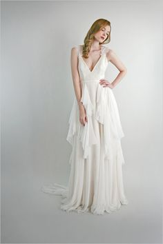 Lovely layers. leanne marshall bridal collection emmylou gown http://www.weddingchicks.com/2014/01/10/leanne-marshall-bridal-collection/