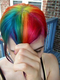 more rainbow hair